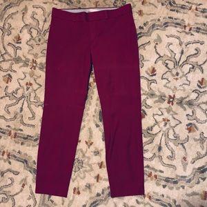 Banana Republic Sloan Skinny pant- Burgundy size 6